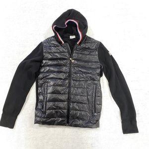 Moncler Maglia Tricot Cardigan Black Down Jacket L